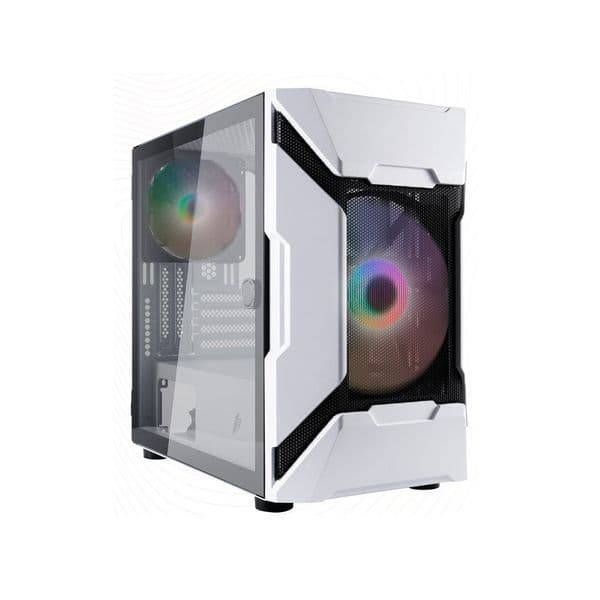 1st Player DK D3-A White Micro ATX Case with RGB Fans